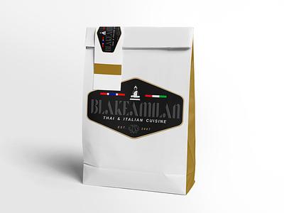 Blakeamilan Thai & Italian gourmet italian thai food restaurant packaging restaurant package design