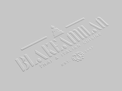 Blakeamilan Thai & Italian logo design restaurant logo