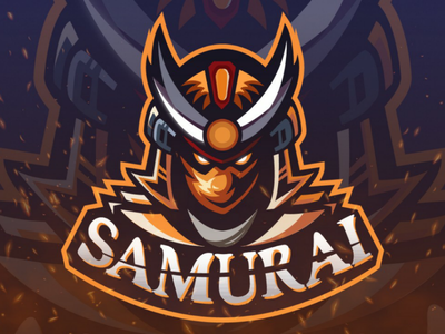 Samurai swordsman hunting hunterlancelot sword orange quarantine logo design samurai logo human hot flat design design character cartoon caricature business brand art anime