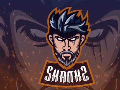 Portrait Mascot one piece shanks character design strong logo design gaming hunterlancelot human quarantine flat design business mascot flat design brand logo character cartoon caricature