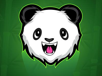Happy Panda mascotlogo hunterlancelot happy panda happy panda logo pandas panda modern minimal caricature anime quarantine flat design vector illustration mascot branding logo character