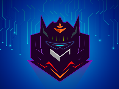 Robot machine evil client work covid robotics blue robots gaming logo redesign robot gaming logo cartoon mascot caricature logo design quarantine hunterlancelot character anime