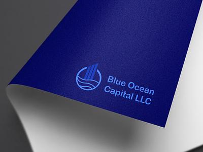 Blue Ocean company rising stock economy market logomark logotype blue ocean ocean logodesign ui ux vector branding design brand logo design quarantine logo hunterlancelot