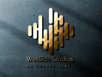 WesSide Studios letter logo lettermark sketch waves create vive wave soundwave sound studios anime caricature mascot character cartoon design logo design quarantine logo hunterlancelot