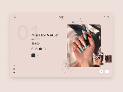 Nail Shop Concept Design concept uidesign ui figmanigeria design figmaafrica