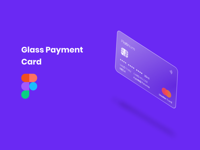 Glass Payment Card payment card glass ui uidesign figmanigeria figmaafrica design