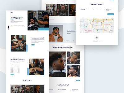 Barber Shop Landing Page Design. webdesigner web design webdesign landingpage landing page design landing page website barber barber shop barbershop idea figma mockup concept beautiful ui uidesign figmanigeria figmaafrica design