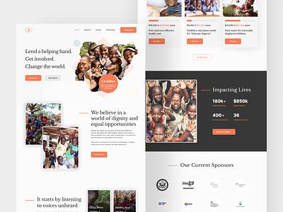 NGO Website concept design uidesign figmanigeria figmaafrica web design charity website charity ngo
