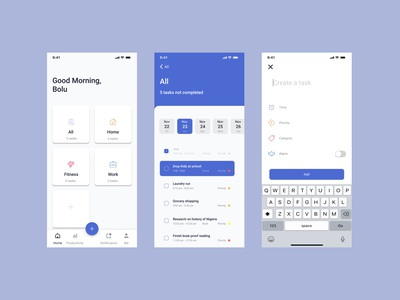 Task Manager App Interface figmaafrica ios app todolist taskmanager uidesign