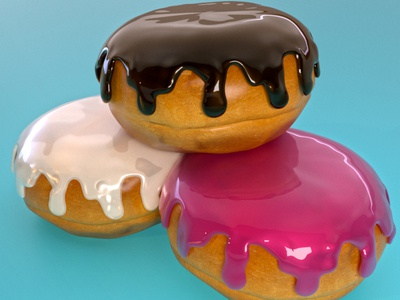 PACZKIS! 3dmodeling styleframe redshift3d occasionalrender 3d cinema4d paczki