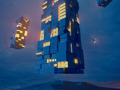 Barren Descent global illumination redshift3d 3dillustration illustration occasionalrender 3d cinema4d