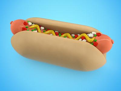 Wassup Dawg? hotdog 3d occasionalrender cinema4d
