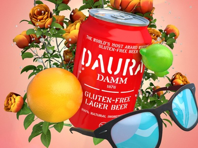 Gluten free Mother's Day dauradamm beer can beer gluten-free occasionalrender cinema4d
