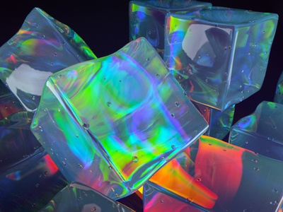 Ice and Lights ice abstract redshift3d global illumination 3d occasionalrender cinema4d