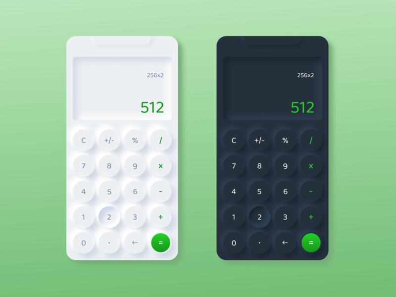 Daily UI #004 - Calculator minimal neumorphism app dailyui ux ui figma