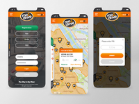 Mobile app redesign project for mo2drive scooter sharing