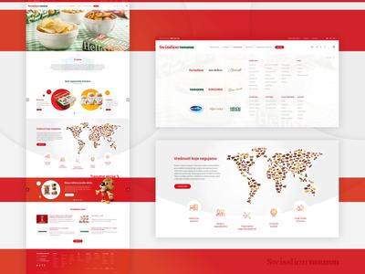 Homepage design for Swisslion Takovo