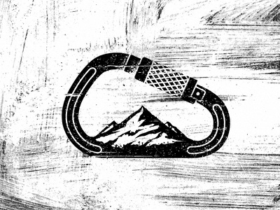 Outdoor Gear Illustration  explore texture extreme adventure stain carabiner outdoor gear mountain