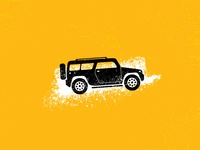 Outdoor Van Expedition Car Illustration