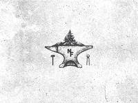 Blacksmithing and Leatherworks Shop Logo Concept