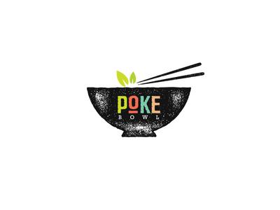Poke Poke Bowl Hawaiian Cuisine Illustration