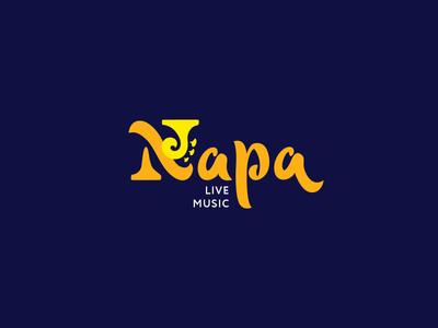 Napa Live Music Lettering Concept