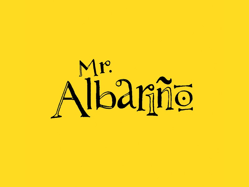 Mr. Albarino Lettering For Local Wine Producer illustration logo texture craft rough local calligraphy albarino lettering organic wine