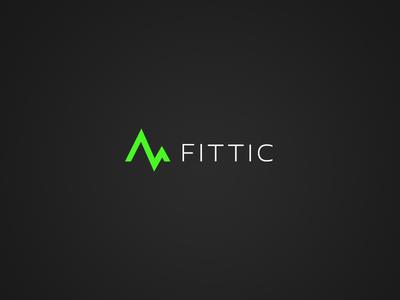 Fittic Logo identity branding logo fitness app clean clear under-control