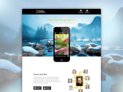 Picture of the Day - Landing Page landing splash iphone app clean