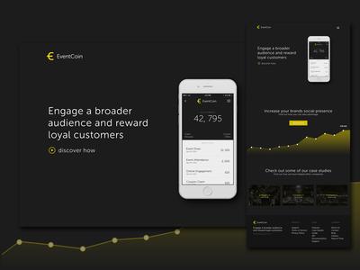 Eventcoin Website Preview header landing app product eventcoin