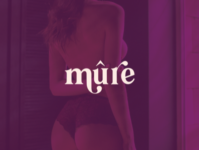 Mûre Lingerie Brand underwear sexy typeface minimal branding typography logo design lingerie
