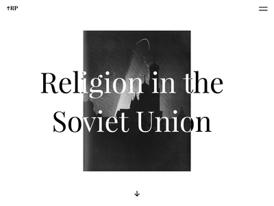Cover of religion research typogaphy design modernism website ux concept black white clear clean minimal religion church first shot firstshot web ui
