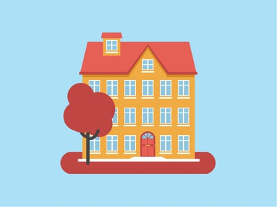 house home icon infographic simple flat design illustration 2d