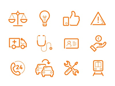 ACV Website Icons vector outline idea hand car flat graphics icon people design illustration 2d