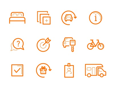 ACV Website Icons bycicle info gift car vector flat graphics icon design illustration 2d