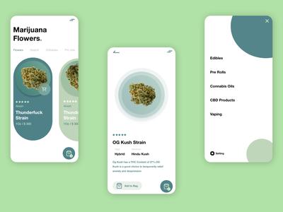 Marijuana Flowers App UI Design