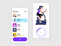 Gym Exercise App UI Design