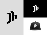 J + H Logo jh branding design flat design logo personal brand personal logo