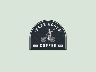 Bare Bones Coffee logodesign badge badgedesign coffee cup coffeeshop logo coffee