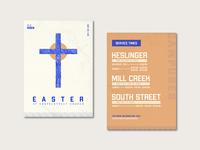 Easter Invite Cards branding design cross print print design easter