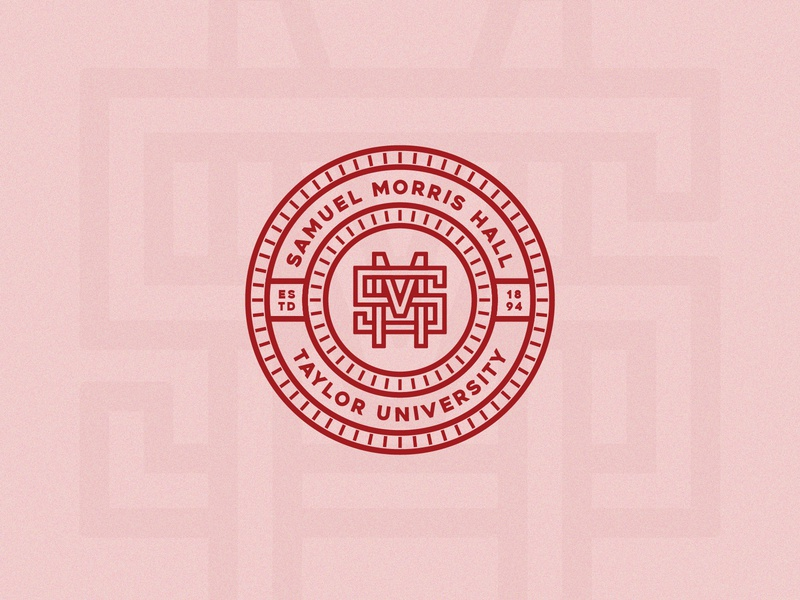Samuel Morris Hall branding monogram letter mark monogram design monogram logo badge design badgedesign badge monogram red dorm dormitory logo design logodesign design logo