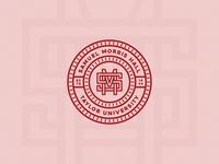 Samuel Morris Hall branding monogram letter mark monogram design monogram logo badge design badgedesign badge monogram red dorm dormitory logo design logodesign design logo