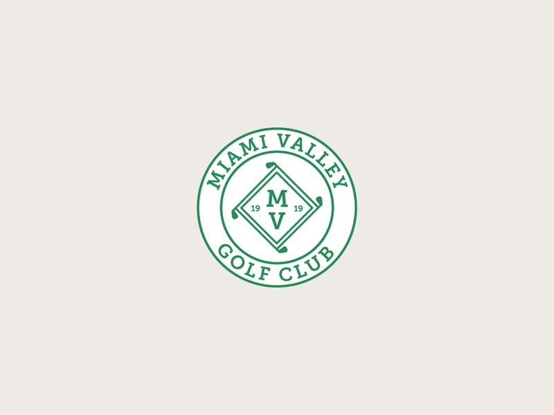 Miami Valley Golf Club logodesign logo golfing sports badge sports logo design sports logo sports golf logo golf club golf