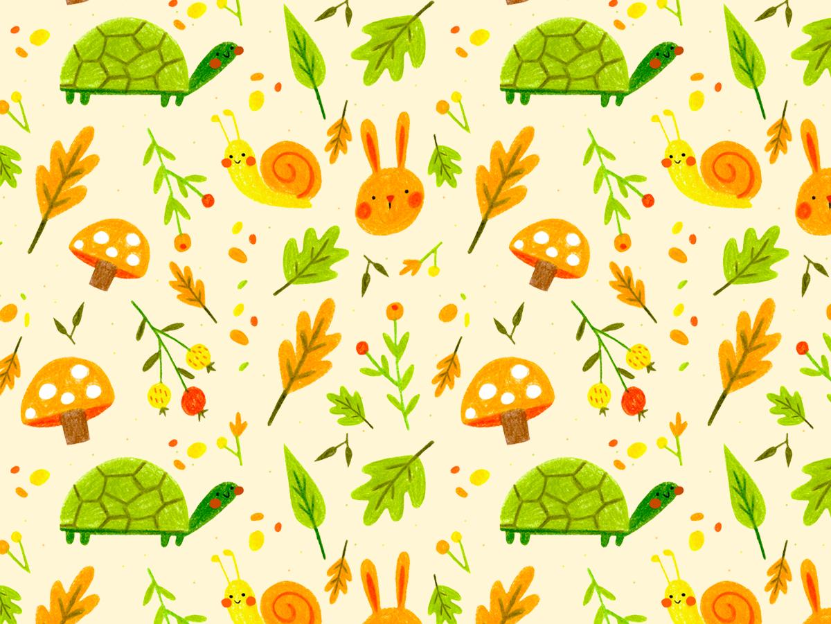 Spring Pattern pattern art design pattern design pattern color pencil tradicional illustration art illustration