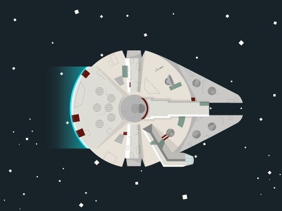 Millennium Falcon millennium falcon star wars spaceship 2d illustration stars space