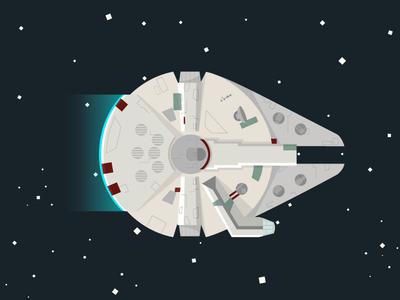 Millennium Falcon millennium falcon star wars spaceship 2d illustration stars space