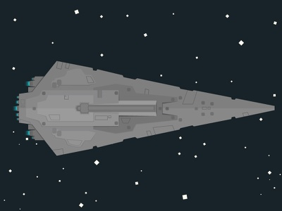 Super Star Destroyer 2d star wars spaceship space destroyer stars illustration universe