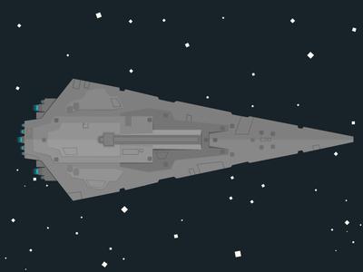 Super Star Destroyer 2d star wars spaceship space destroyer stars illustration universe