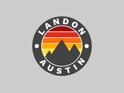 Landon Austin type minimal lettering illustration design branding vector typography logo flat