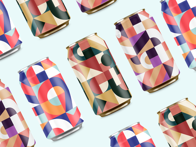 Pattern Series Cans branding brand simple geometic geometry seltzer beer series illustrator illustration patterns candesign